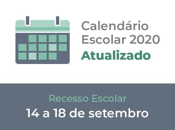 Calendário Escolar 2020 (Atualizado)