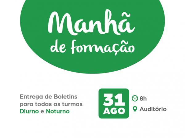 MANHÃ DE FORMAÇÃO 31/08